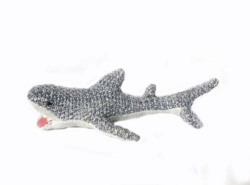 Cuddly Knit Seymour the Shark Plush Rattle 8in | Mon Ami Designs
