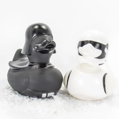 Space Warriors Darth Fader and Space Trooper Star Wars Rubber Duck Combo by Ducks in the Window