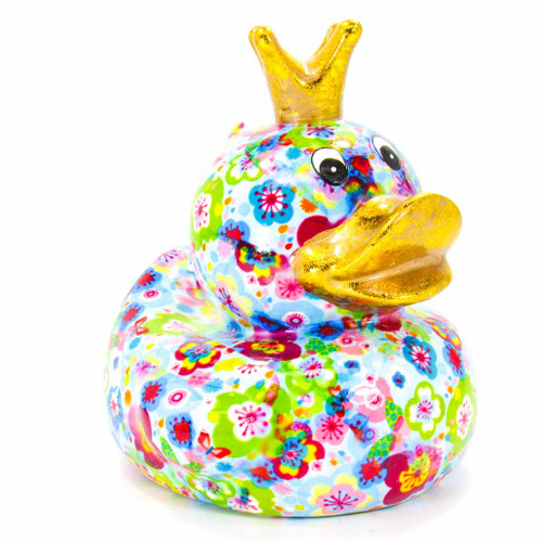 Pomme pilou Money Box Ducky Large Blue Piggy Bank | Ducks in the Window