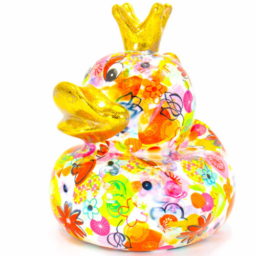 Pomme pilou Money Box Ducky Large White Piggy Bank   Ducks in the Window