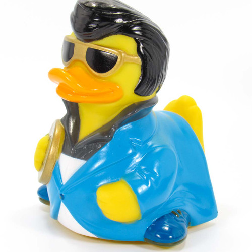 Blue Sued Rock & Roll Rubber Duck Elvis Lives by Celerbriducks | Ducks in the Window®