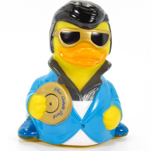 Blue Sued Rock & Roll Rubber Duck Elvis Lives by Celerbriducks   Ducks in the Window®