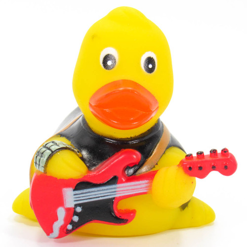 Guitar Player Rubber Duck Ad Line | Ducks in the Window®