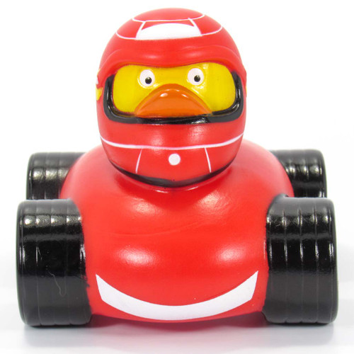 F1 Race Car Driver Rubber Duck by Schnabels | Ducks in the Window®