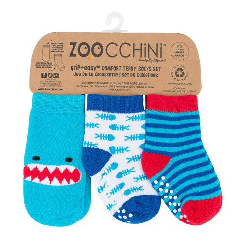 Zoocchini Baby Socks Set Shark | Ducks in the Window