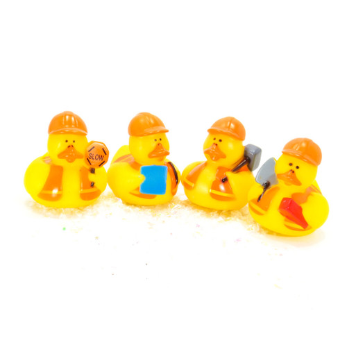 Construction Worker Small Rubber Duck Gift Bundle | Ducks in the Window
