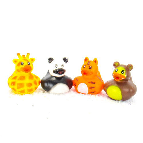 Zoo Animals Gift Bundle Small Rubber Ducks