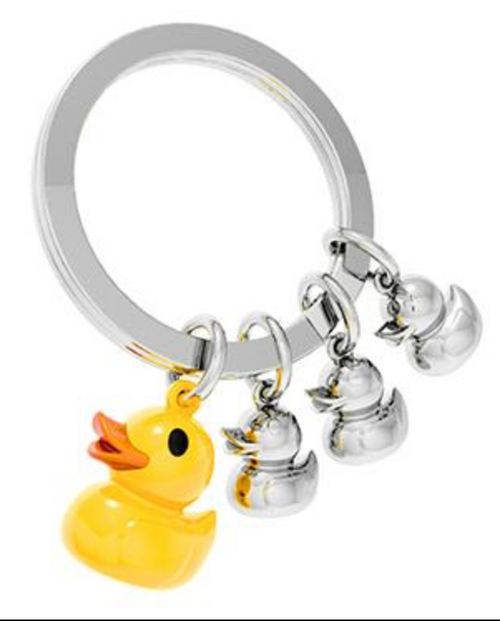 Family of Ducks Rubber Ducky Key Ring