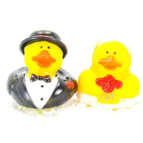 Bride & Groom Wedding Gift Bundle Small Rubber Ducks | Ducks in the Window