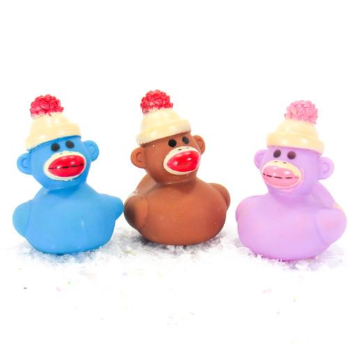 Sock Monkey Gift Bundle Small Rubber Ducks | Ducks in the Window
