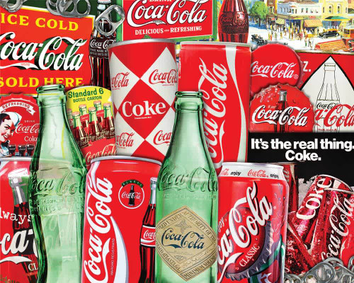 Vintage Soda Cans 1000 piece Jigsaw Puzzle by Springbok   Ducks in the Window