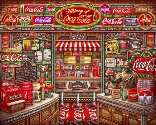 Coca Cola History 1000 piece Jigsaw puzzle by Springbok | Ducks in the Window