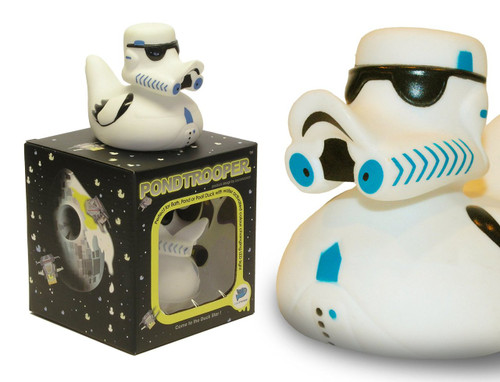 Pond trooper Rubber Duck from the Pond Wars Series glows in the dark (Star Wars Fans, Storm Troopers)