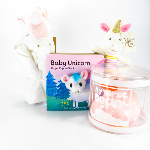 Unicorns and Ducky Baby Girl Gift Bundle| Ducks in the Window