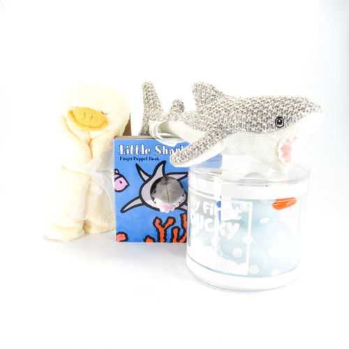 Shark &  Ducky Baby Boy Gift Bundle | Ducks in the Window