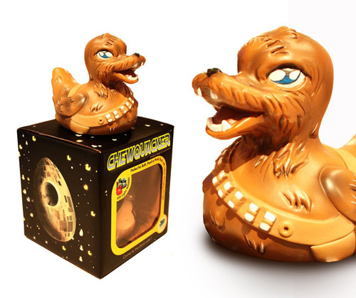 Chewquaker Rubber Duck from the Pond Wars Series LED Lights glow-in-the-dark (Star Wars Fans, and Chewbacca)