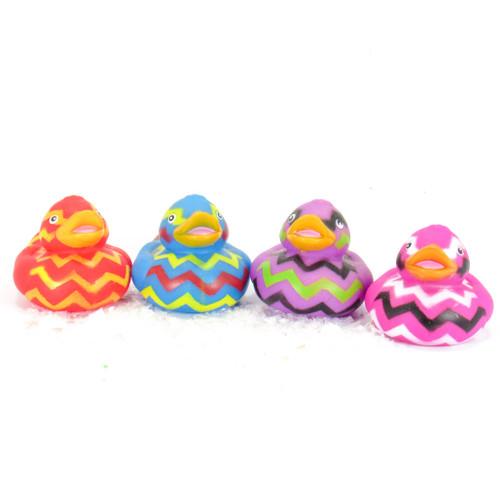 Zig Zag Pattern Gift Bundle Small Rubber Ducks | Ducks in the Window