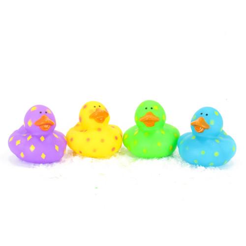 Diamond Pattern Gift Bundle Small Rubber Ducks | Ducks in the Window