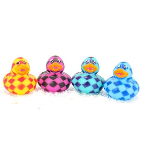 Checkerboard Pattern Gift Bundle Small Rubber Ducks | Ducks in the Window