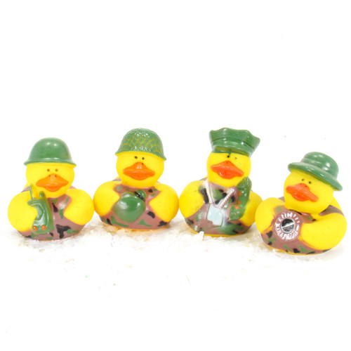 World War 11 Army Camouflage  Gift Bundle Small Rubber Ducks | Ducks in the Window