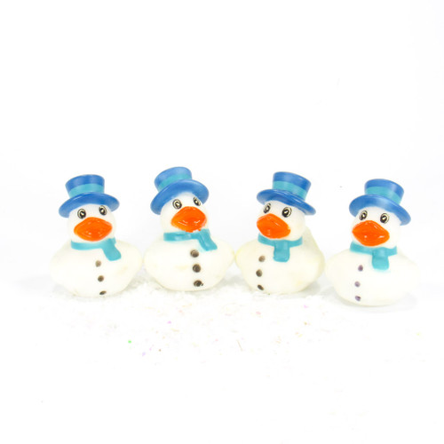 Snowmen Blue  Gift Bundle Small Rubber Ducks | Ducks in the Window