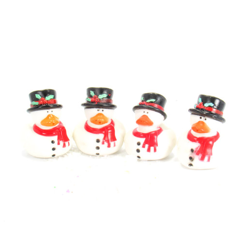 Snowmen Red  Gift Bundle Small Rubber Ducks | Ducks in the Window