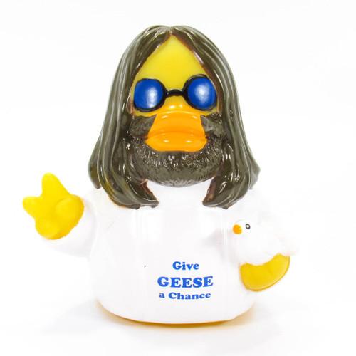Give Geese A Chance Rubber Duck (John Lennon, Beatles) by Celebriducks | Ducks in the Window