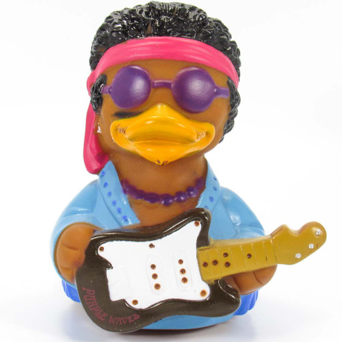 Purple Waves Rubber Duck (Jimmy Hendrix) by Celebriducks | Ducks in the Window®