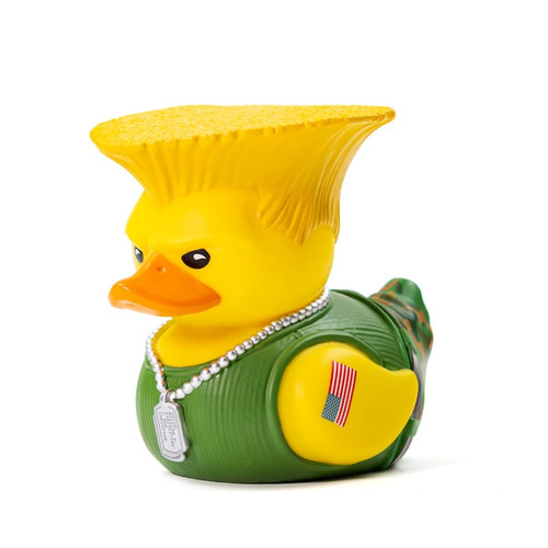 Street Fighter's Guile TUBBZ Cosplaying Rubber Duck Collectible Bath Toy | Ducks in the Window
