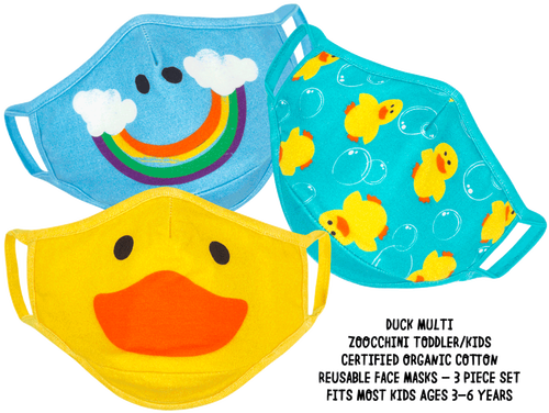 3 Pack Organic Duck Masks | Zoocchini
