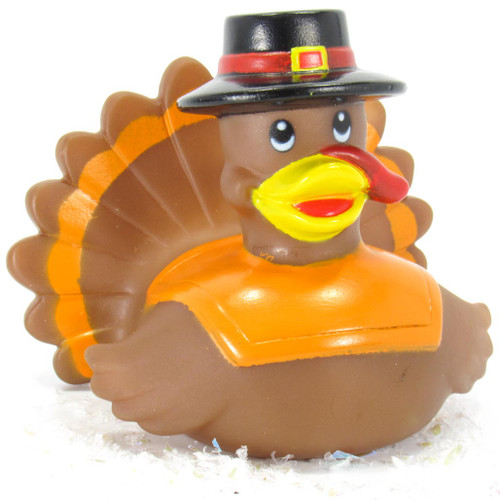 Turkey Thanksgiving Rubber Duck by Ad line | Ducks in the Window®