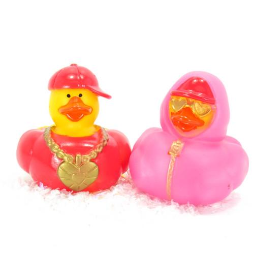 Hip Hop Valentines Love Gift Bundle Small Rubber Ducks | Ducks in the Window