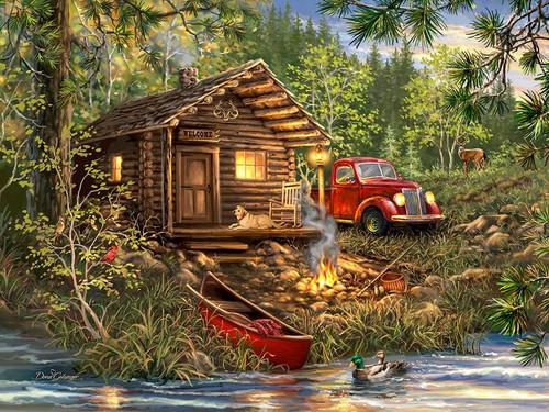 Cozy Cabin Life 500 piece Puzzle | Springbok