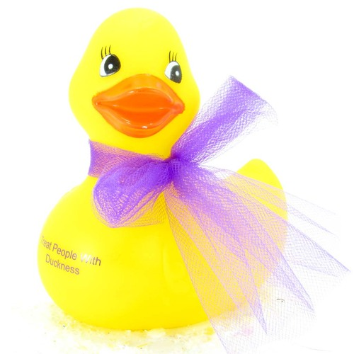 "Harry Styles Fashion Forward Rubber Duck by Ducks in the Window "" Treat People With Duckiness"""