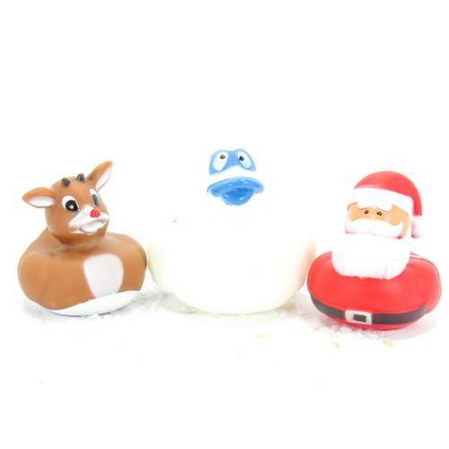 Santa, Rudolph, Bumbles Gift Bundle Small Rubber Ducks | Ducks in the Window