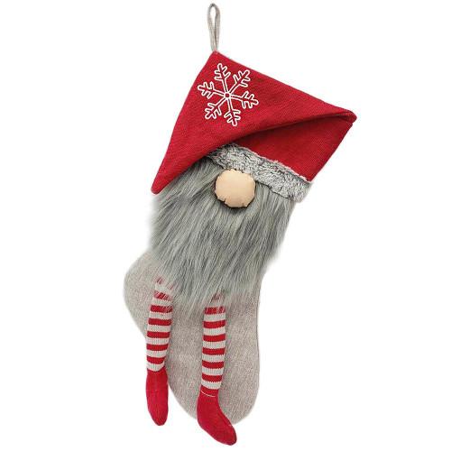 Red Gnome Christmas Stocking | Mon Ami Designs