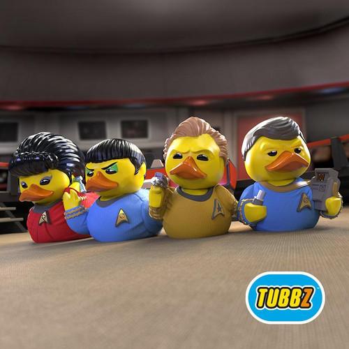 Star Trek Special Bundles James T. Kirk, Spock, Leonard 'Bones' McCoy, and Nyuta Uhura TUBBZ Cosplaying Rubber Duck Collectibles Bath Toy   Ducks in the Window