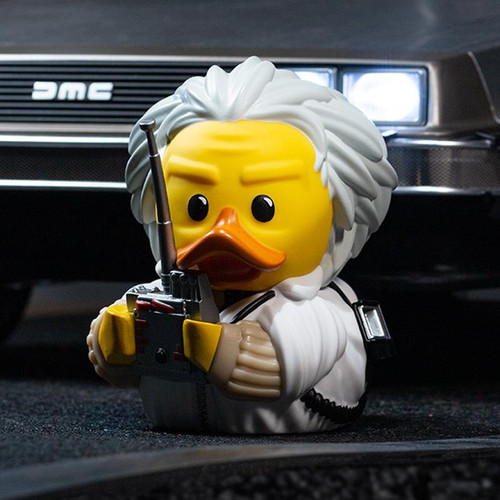 Back To The Future Dr. Brown TUBBZ Cosplaying Rubber Duck Collectibles Bath Toy   Ducks in the Window