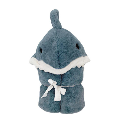 Seaborn Shark  Hooded Blanket  by Mon Ami Designs