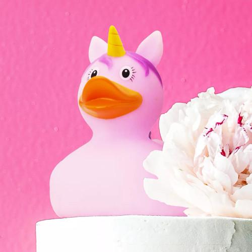 Unicorn Duck, Pink Rubber Duck by LILALU bath toy   Ducks in the Window