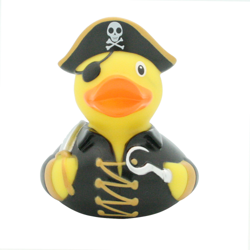 Pirate Patch Hook Rubber Duck by LILALU bath toy | Ducks in the Window