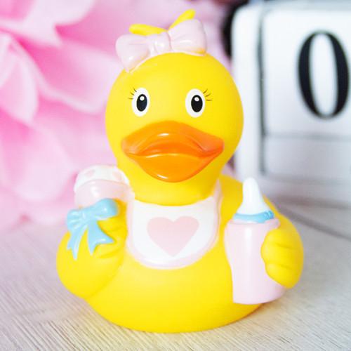Baby Girl Rubber Duck by LILALU bath toy | Ducks in the Window