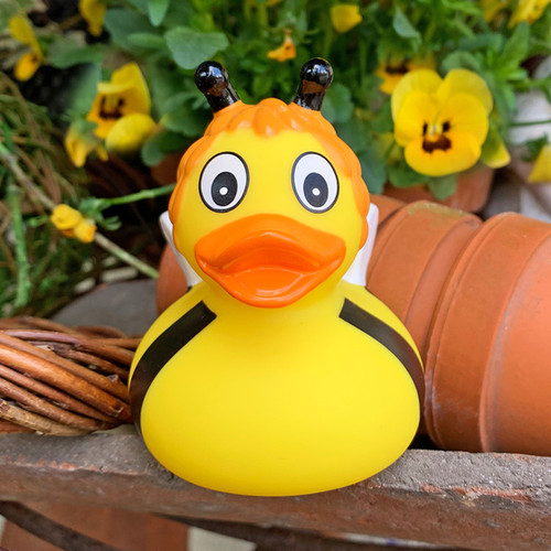 Bumble Bee Susies Rubber Duck by LILALU bath toy | Ducks in the Window