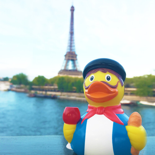 French Parisian Paris Rubber Duck by LILALU bath toy | Ducks in the Window