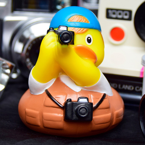 Photographer Rubber Duck by LILALU bath toy   Ducks in the Window
