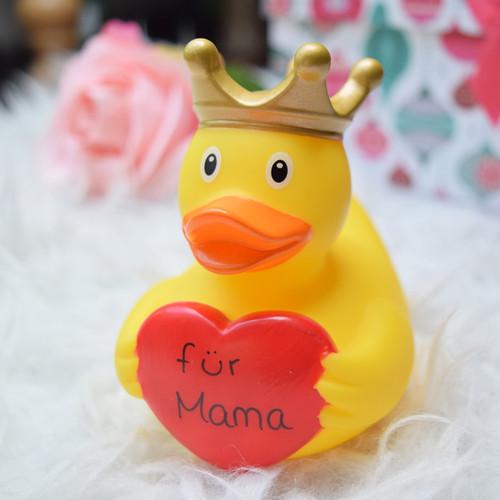 Heart Message  Rubber Duck by LILALU bath toy | Ducks in the Window