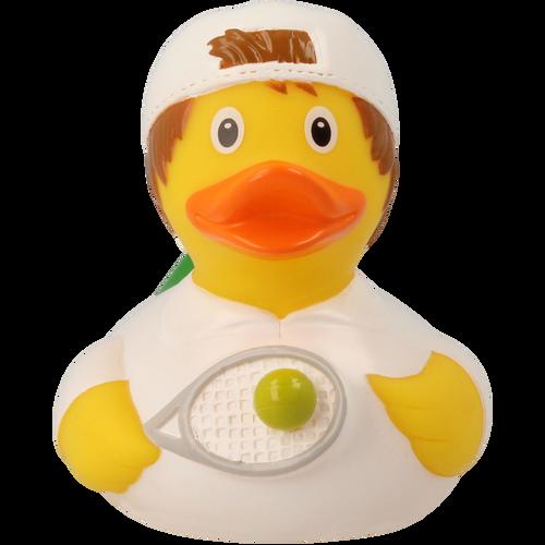Tennis Player Boy Rubber Duck by LILALU bath toy | Ducks in the Window