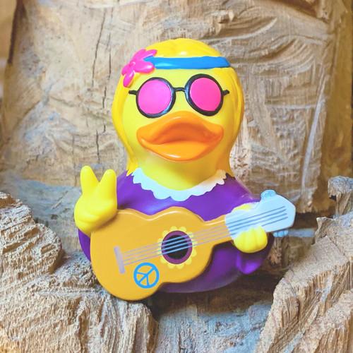 Hippie Female Rubber Duck by LILALU bath toy | Ducks in the Window