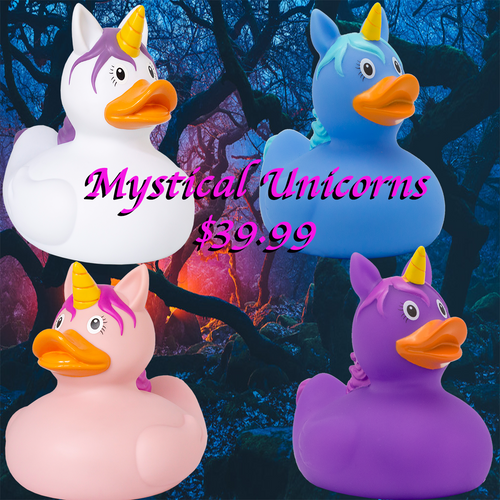 Magical Unicorn Bundle of 4 rubber ducks by LiLaLu | Exclusively at Ducks in the Window