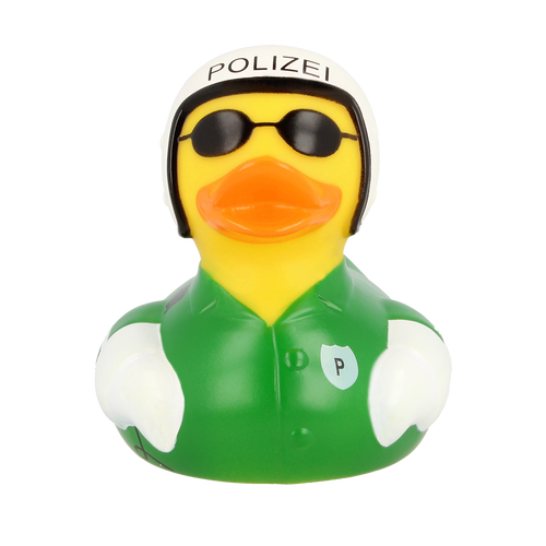 Motorcycle Police  Rubber Duck by LILALU bath toy | Ducks in the Window